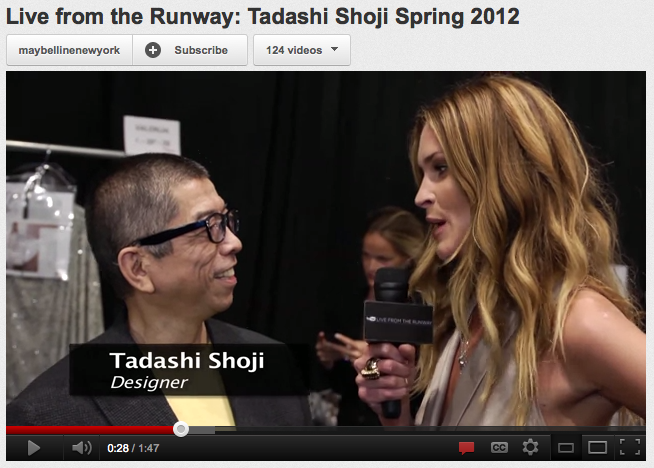 Erin Wasson Interviews the very talented Tadashi Shoji at NYFW 2012 Fall