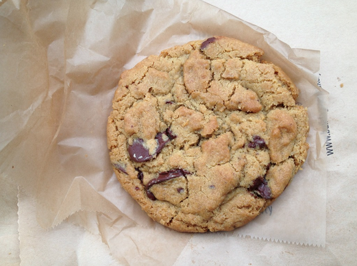 Chocolate chip cookie from Vesuvio