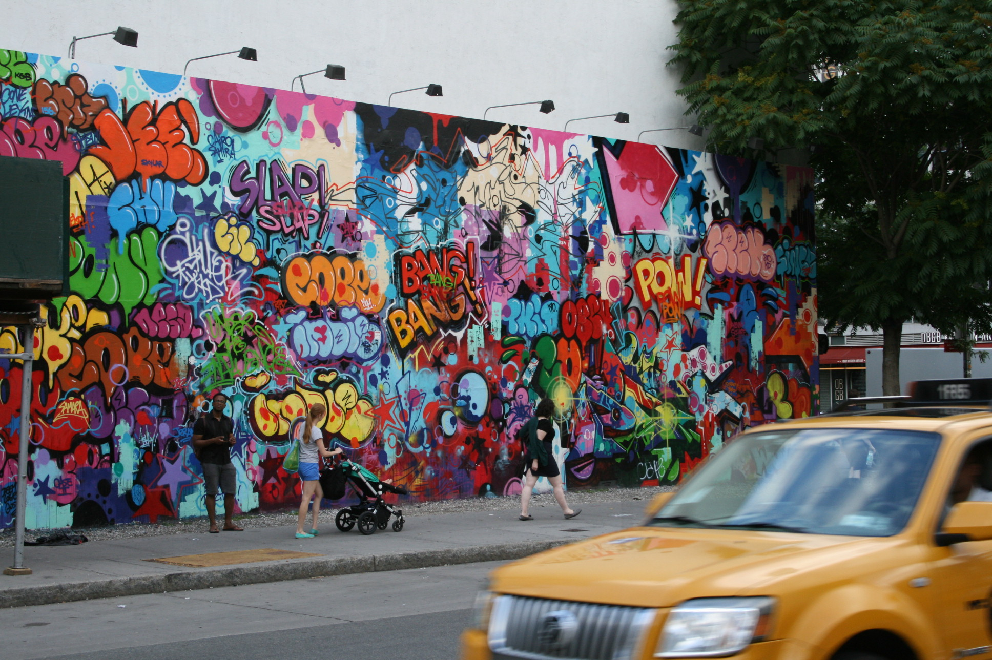 Bowery wall mural June 2014 by Cope2