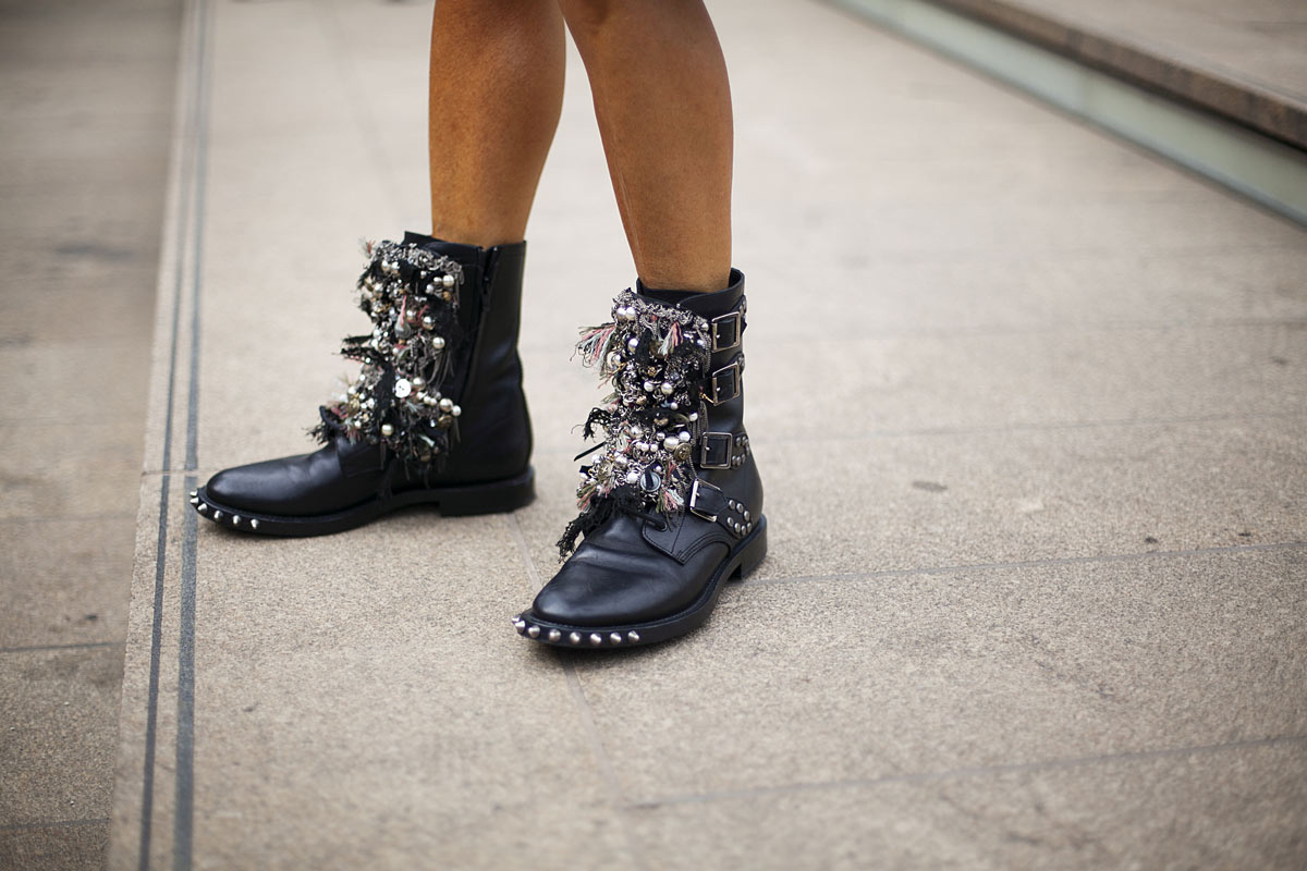 NYFW 2014 Street Style Blogger 20 studded boots