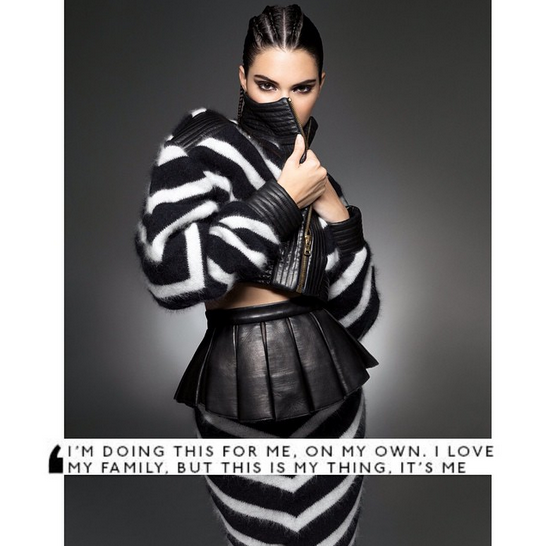 Kendall Jenner most popular fashion model on Instragram with 14 million followers