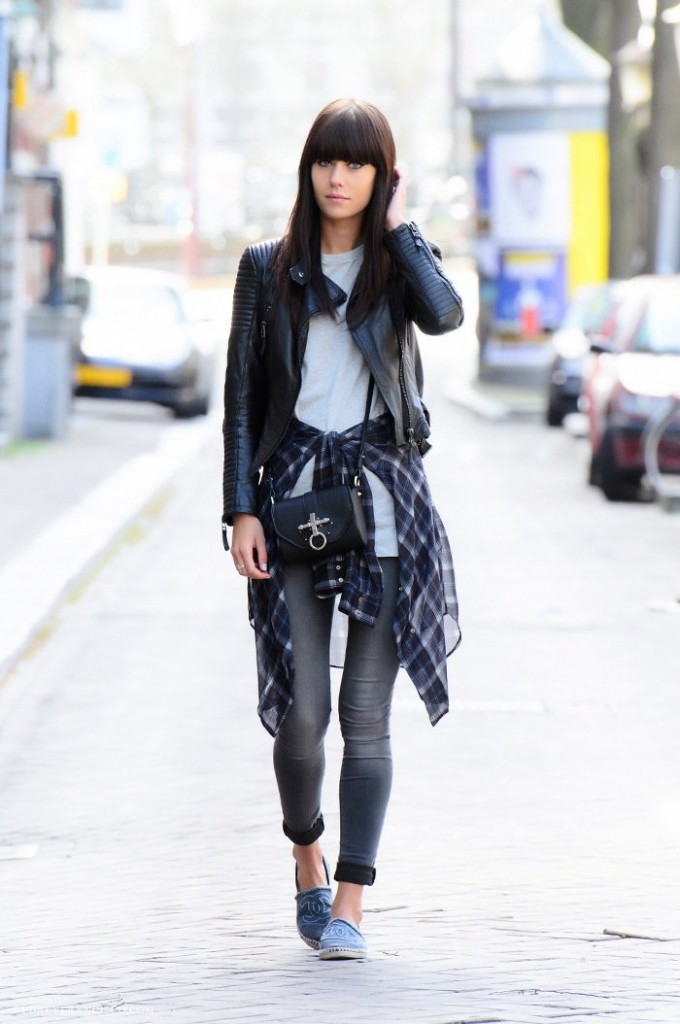 black leather-jacket-street-fashion nolita nyc street style