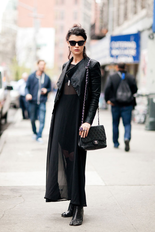 black leather jacket street style nyc nolita