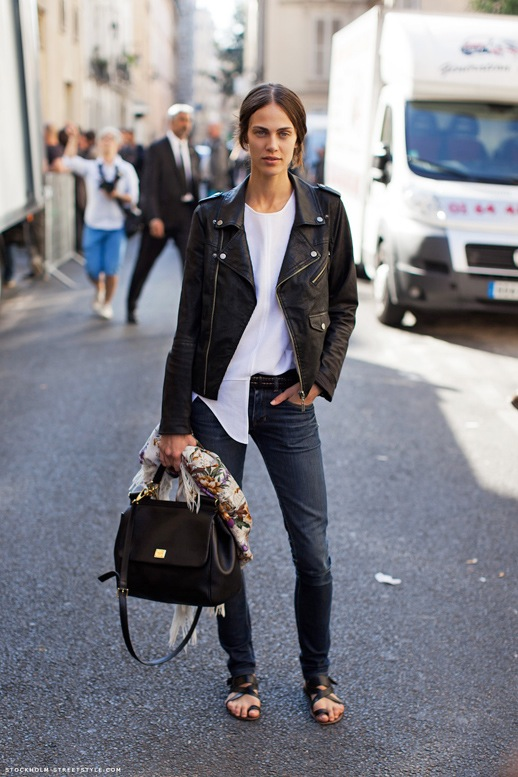 black leather jacket street style trend nolita Le-Fashion-Blog-Model-Off-Duty-Street-Style-Aymeline-Valade-Paris-Fashion-Week