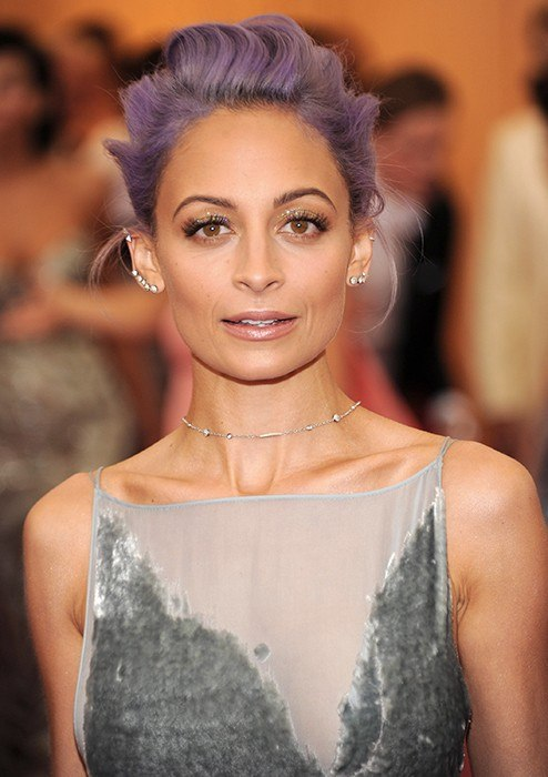nicole richie pastel hair met gala awards