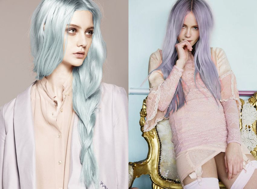 pastel pink purple hair streetstyle nyc popular hair fashion 99