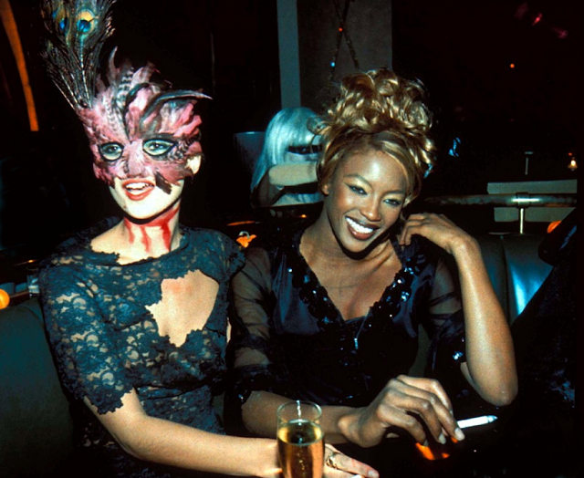 vogue halloween couture look for fashionista nolita hearts New York-Halloween Party-1995 kate moss naomi campbell