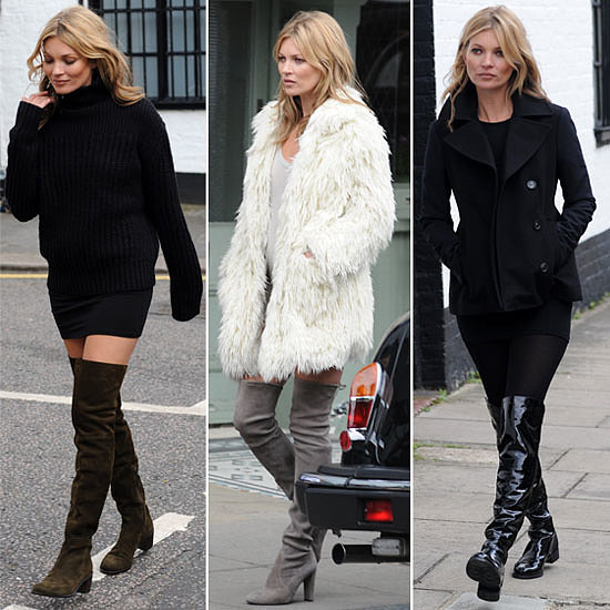 kate moss over the knee winter boots