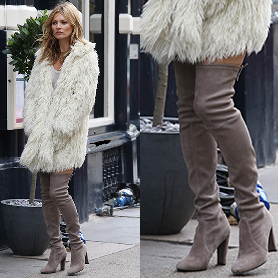 Street Snapper: Over the knee thigh high suede boots are super ...