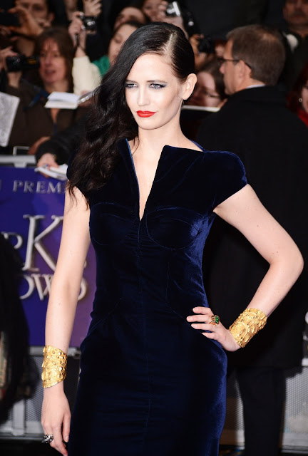 Eva Green London velvet holiday party dress