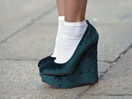 green velvet wedges fashion bloggers wearing velvet streetstyle nyc nolita