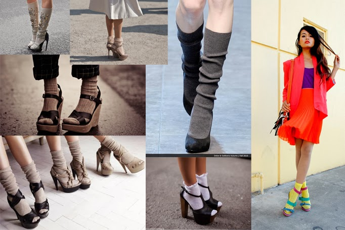 socks and heels trend nyc