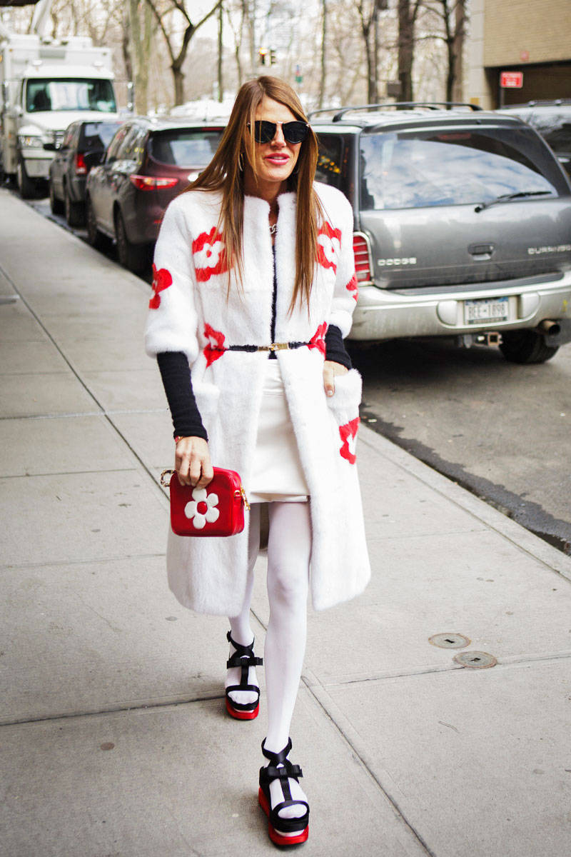 Street Snapper White Is The New Black For Winter Street Fashion Bloggers Nolita Hearts Nyc