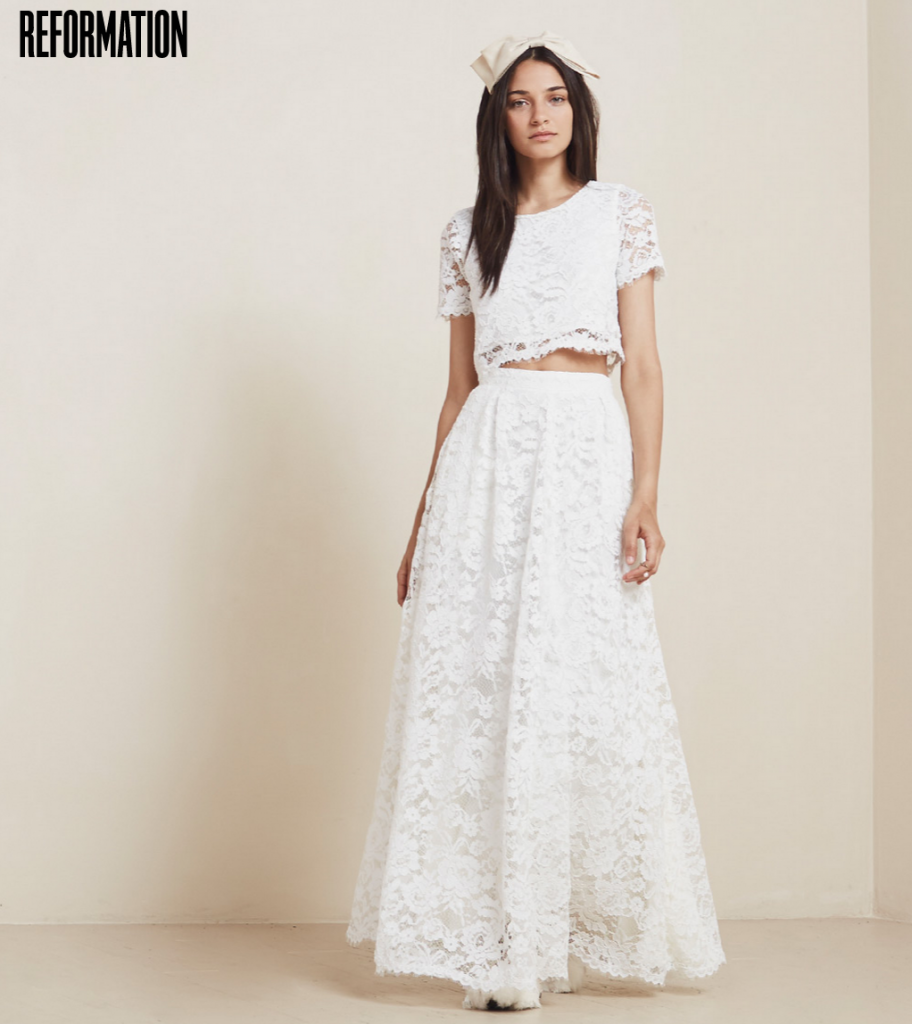 Reformation wedding dresses