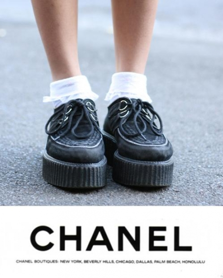 chanel 10 winter creeper street style looks that rock
