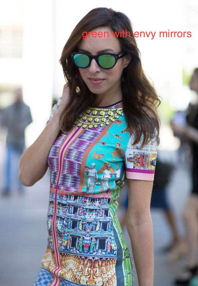 20 mirrored colorful sunglasses looks to channel some warm ...