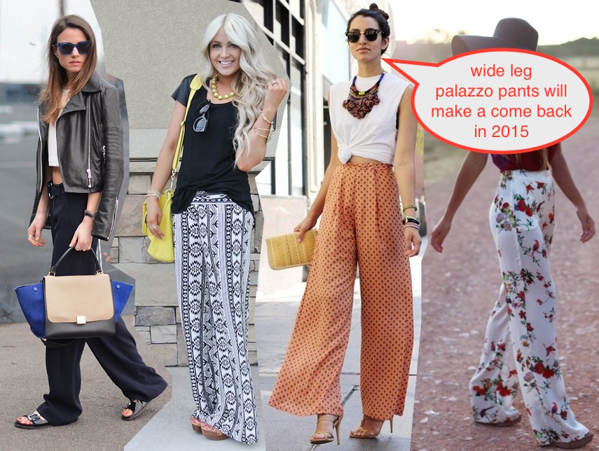 palazzo pant long wide legged trousers trend 2014 with midriff