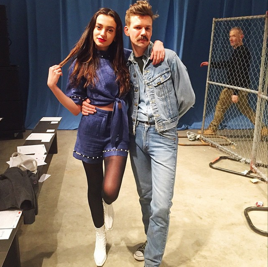 adam selman denim collection opening ceremony nyfw february 2015