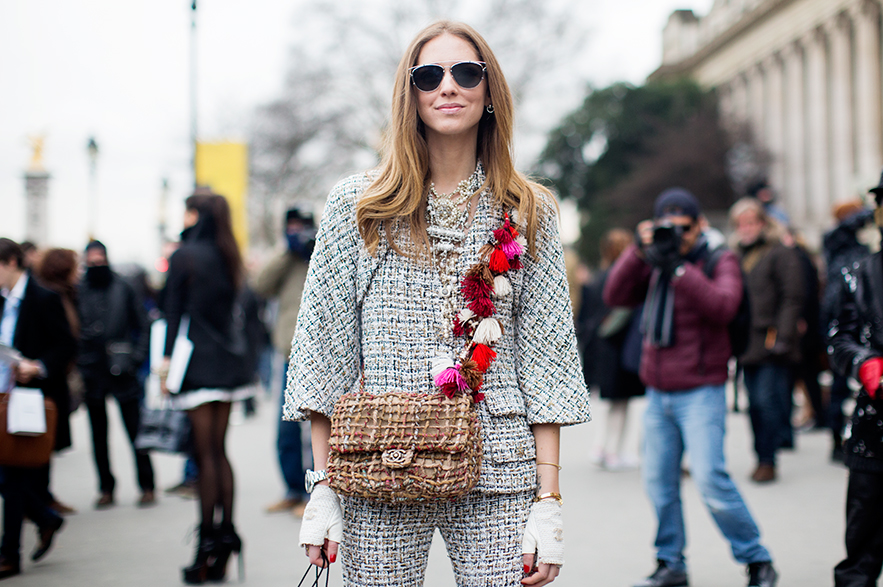 chiara ferragni paris winter fashion week street style 2015