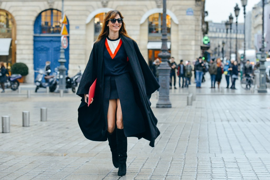 mbfw paris model street style dashing between fashion shows in paris march 2015