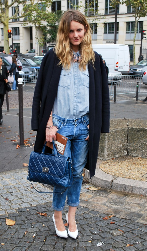 double denim denim on denim street style nyc 2015 street style nyc