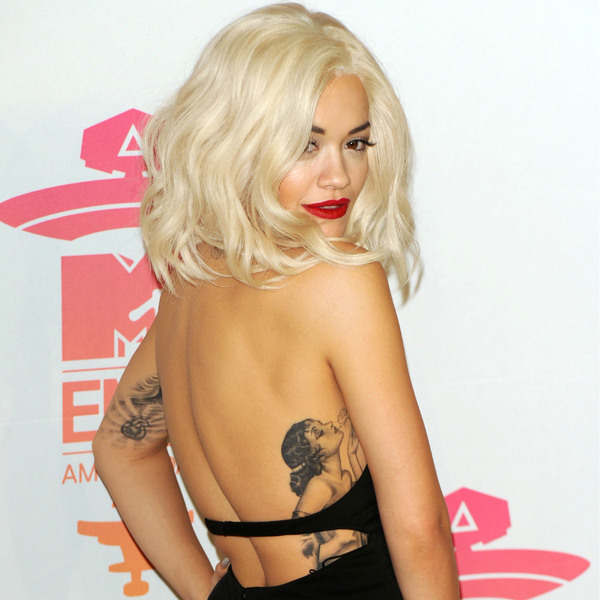 Rita Ora Lady Back Tattoo