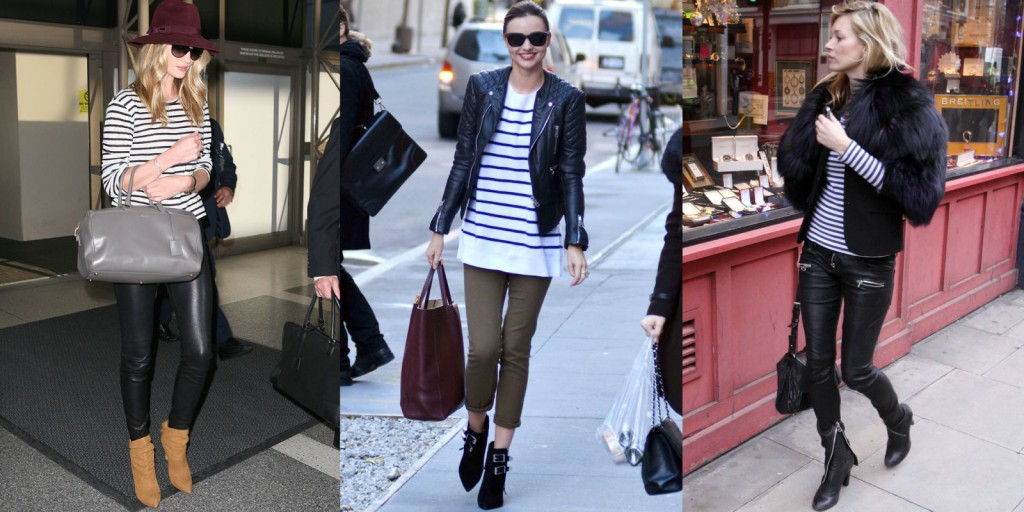 black and white striped street style nyc miranda kerr late moss rosie huntington supermodels