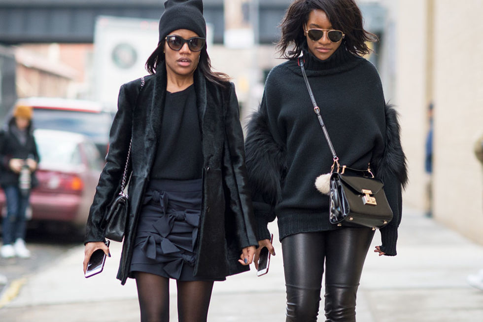 black black all black spring street style nyc