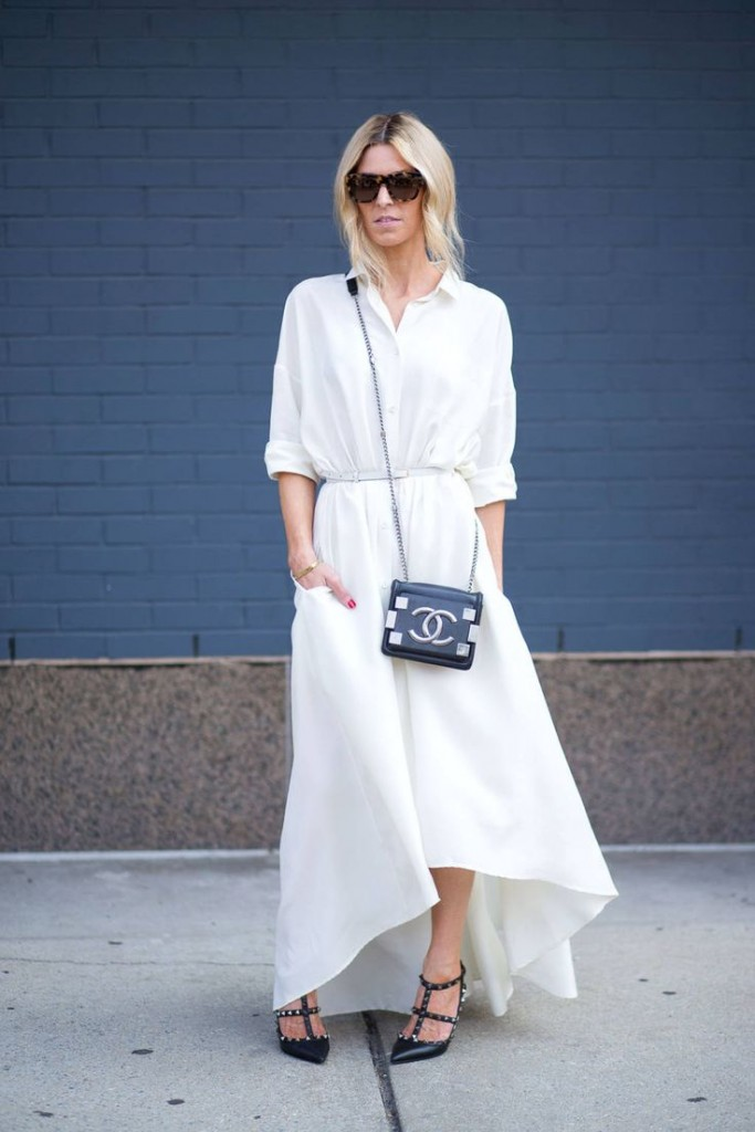 street style nyc 2015 summer white chanel bag